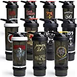 Smartshake Revive Metallica Shaker Bottles for Protein Mixes With Storage 25 Oz – Workout Shaker...