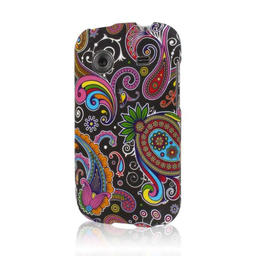 Whirl Case, MPERO SNAPZ Series Rubberized Case for ZTE Whirl Z660G - Black Paisley
