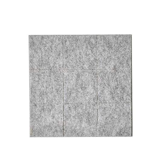 perfeclan Tablero de Corcho, tablón de anuncios y tablón para Paredes: Aspecto Moderno con diseño de Doble Superficie - Gris