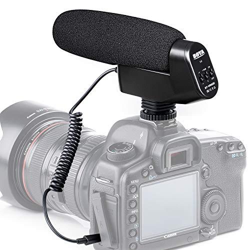 Microfono con fucile cardioide incorporato, BOYA DSLR Microfono a condensatore Video Mic per fotocamere Canon Nikon Videocamera Sony Pentax Intervista professionale Studio di registrazione YouTube