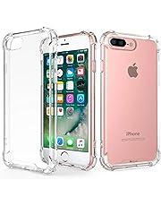 RKINC Funda para Apple iPhone 7 Plus 8 Plus, Esquinas reforzadas Funda de TPU de cojín Suave Ultrafina, Ligera, Flexible y Resistente a los arañazos para Apple iPhone 7 Plus 8 Plus