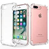 RKINC Case for Apple iPhone 7 Plus 8 Plus, Reinforced Corners Soft Cushion TPU Cover Transparent Ultra Thin, Lightweight, Flexible and Scratch Resistant Silicone Case for Apple iPhone 7 Plus 8 Plus