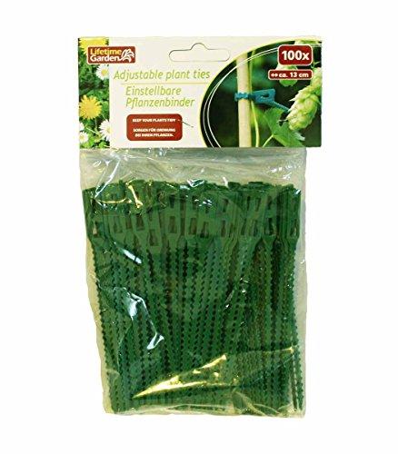 Haac Lot de 100 attaches pour plantes réglable Longueur 13 cm Couleur Vert