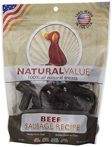 Loving Pets Natural Value All Natural Soft Chew Beef Sausages for Dogs, 14-Ounce by Loving Pets