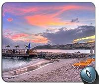 リラックスパステルビーチカスタマイズマウスパッド長方形マウスパッドゲーミングマウスマット