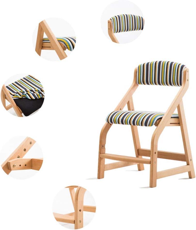 Président WGZ- Chaise de Salle à Manger Simple en Bois Massif avec accoudoir de Restaurant, Chaise de Loisirs, Chaise d'ordinateur pour Adultes Simple (Color : D) E