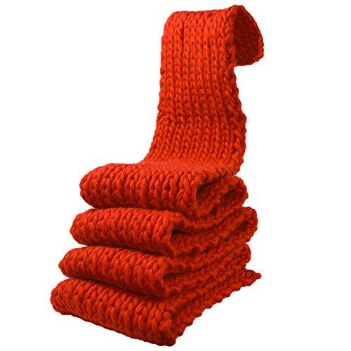 Kit breiset voor beginners voor breien een MAXI sjaal grote wol rood