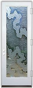 Glass Front Entry Door Sans Soucie Art Glass Streams 3D