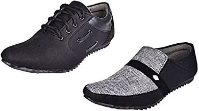 ESSENCE Prefect Combo of 2 Men's Smart Casual Shoes