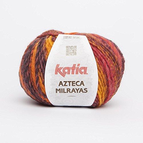 Katia Azteca Milrayas - Farbe: Rojo/Ocre/Naranja/Marrón (707) - 100 g / ca. 180 m Wolle
