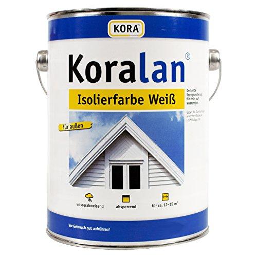 Koralan® Isolierfarbe Weiß Sperrgrundierung Außen Holzschutz 2,5L