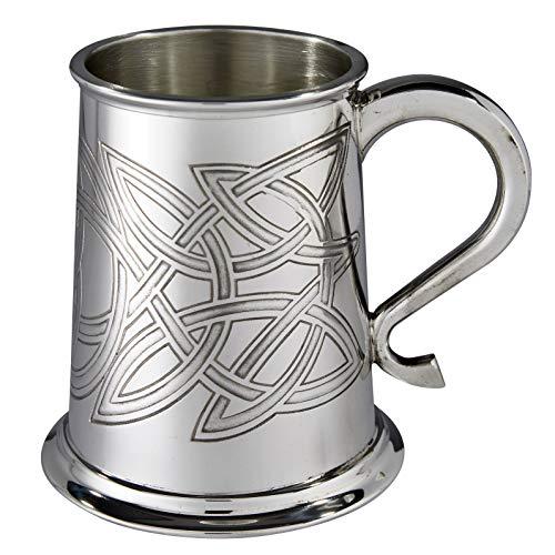 Wentworth Pewter Skye Celtic Knot Pewter tankard, Beer Mug
