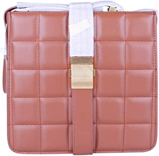 Lingge Minimalist Fashion Buckle Shoulder Bag Diagonal Package Fashion Ladies Leather Small Square Package. jszzz (Color : Pink)