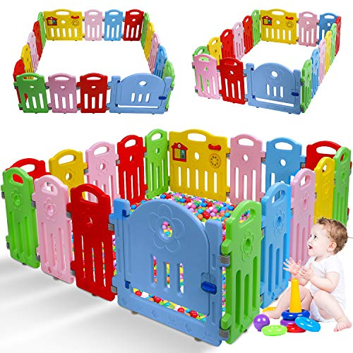Baby Playpen for Babies Baby Play Playards 18 Panels Infants Toddler Safety Kids Play Pens Indoor Baby Fence with Activity Board