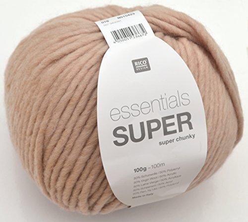Rico essentials Super chunky Fb. 18 - puder wunderbare Schnellstrickwolle für Ihre modischen Projekte
