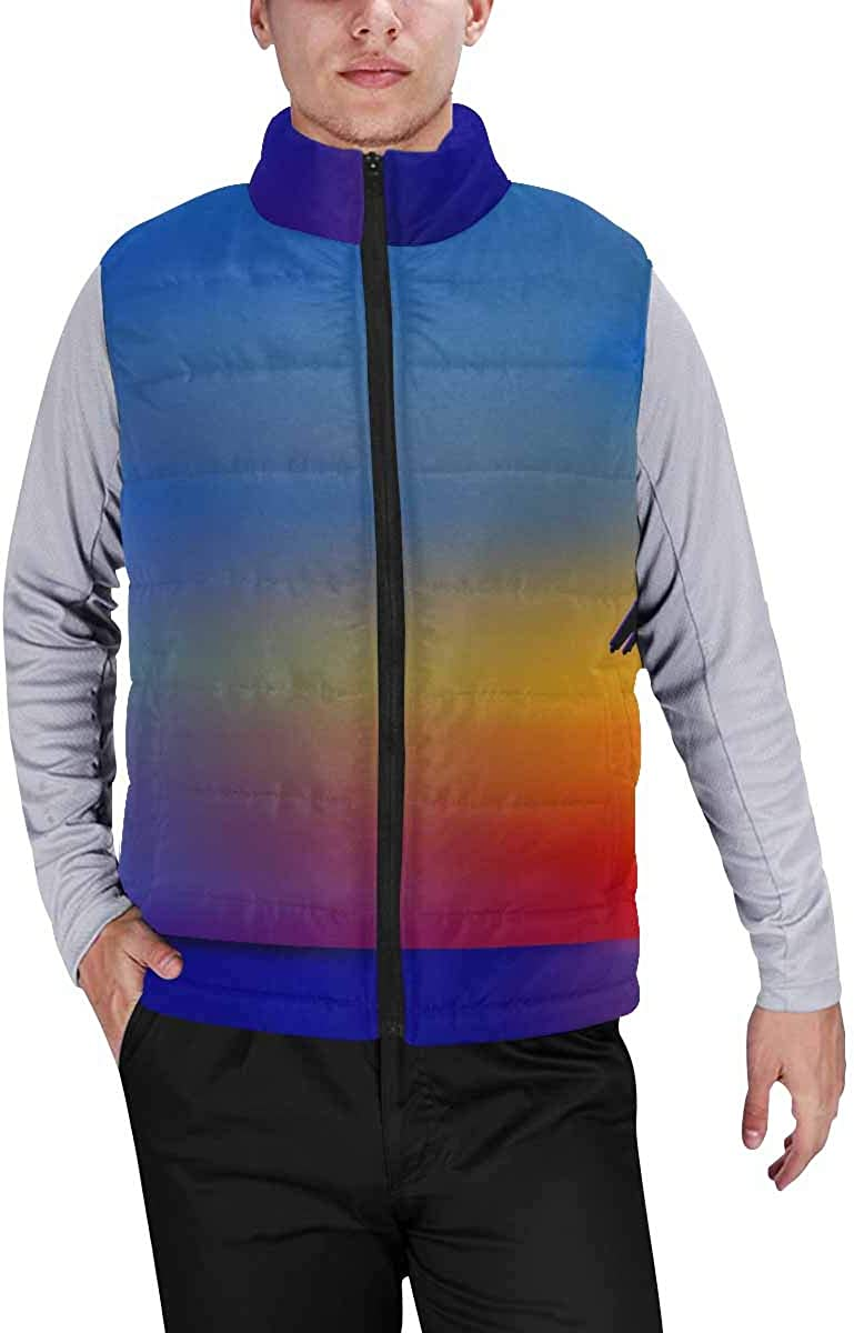 InterestPrint Men's Soft Stand Collar Jacket for Fishing Hiking Cycling Paisley Pattern Colors