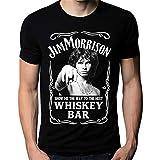 Photo de Men Fashion t-Shirt Jim Morrison Show Me The Way to Next Whiskey Bar Doors Logo Men's T-Shirt Men Casual Shirt