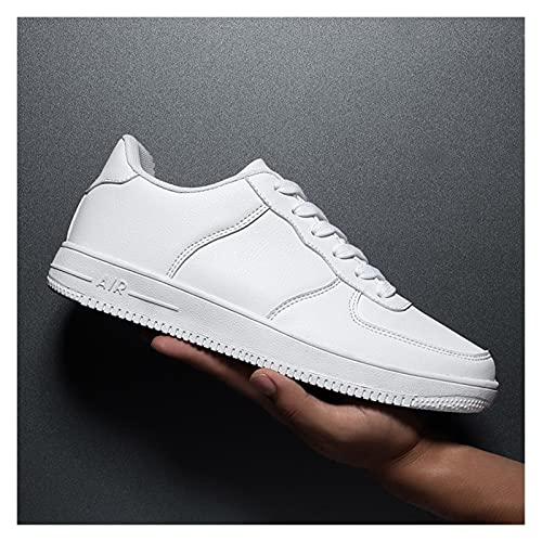 Zapatillas de deporte para hombre blancas 2020 zapatos casuales ligeros para hombre transpirable negro zapatos de hombre de gran tamaño tenis masculino zapatos hombre (color: blanco, tamaño: 11)