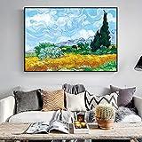 ganlanshu Quadro Senza Cornice Alberi di cipresso, dipinti di paesaggi impressionisti Alle pareti, Quadri su Tela 40X60 cm