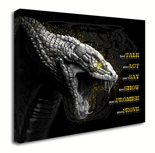 Blueyearn Motivational Wall Art Cobra Picture Inspirational Canvas Painting Positive Quotes Posters Prints Modern Artwork for Home Office Decor Home Decoration Living Room Bedroom,11x14in