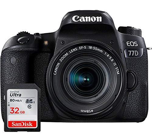 Canon EOS 77D - Fotocamera Digitale Reflex + Obiettivo EF-S 18-55...