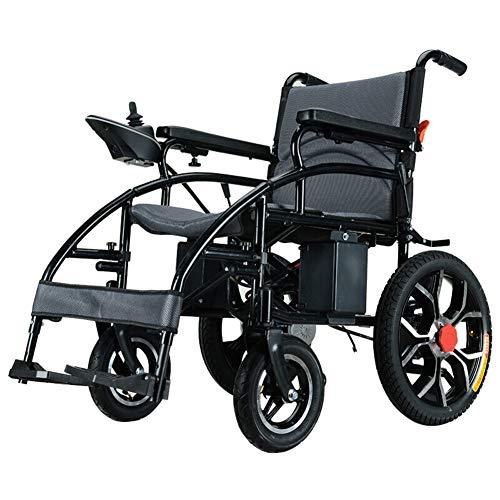 Silla De Ruedas Eléctrica Plegable Inteligente Ligera Power Chair,Silla Eléctrica para Ancianos Discapacitados Adultos,Coche Anciano Compacto Asiento 45cm,Peso Máximo Soportado 200kg