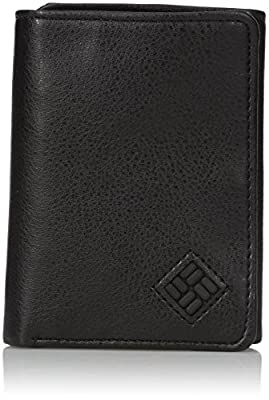 Columbia Men's RFID Leather Wallet - Big Skinny Trifold Vertical Security Protection Credit Card Slots and ID Window, Brown, 1size