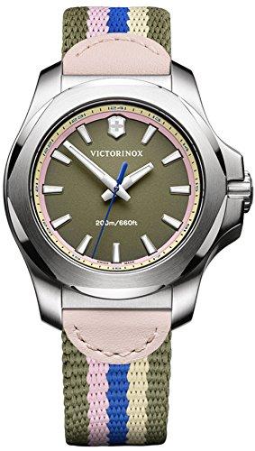 Victorinox inox orologio Donna Analogico Al quarzo con cinturino in Nylon...