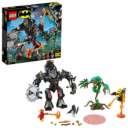 LEGO Super Heroes DC Comics - Batman versus Robot de Hiedra Venenosa, Juguete Divertido de construcción de Aventuras con Minifiguras de Flash y Firefly (76117)