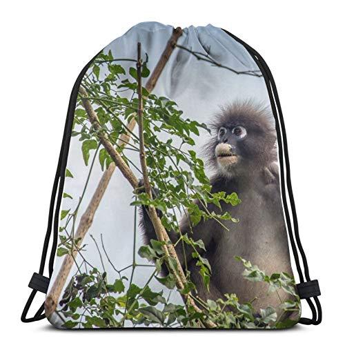 Primate Spectacled Thin Body Fuck Experience Obscurus - Mochila unisex con cordón, bolsa de cincha de poliéster, impermeable para deporte