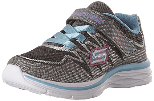 Skechers Skechers Mädchen Sneakers Whimsy Girl 81131L/ CCTQ, Charcoal/Turquoise, Charcoal/Turquoise, 33 EU