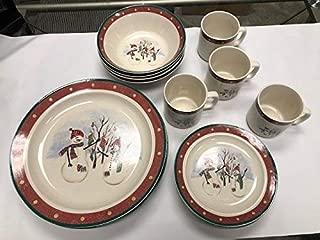 Royal Seasons Stoneware 16-PC Piece Dinnerware Dishes Set