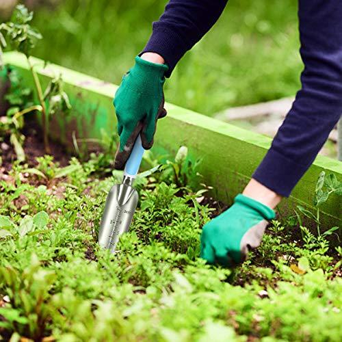Codirom Garden Tools Set 5PCS Gardening Tools Planting Trowel Garden Shovel Garden Rake Transplant Tools