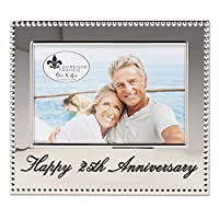 Lawrence Frames 4x6 Happy 25th Anniversary Picture Frame [並行輸入品]