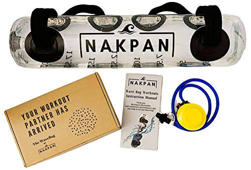 Nakpan Aqua Bag - Core and Balance Trainer - Adjustable Water Weights Portable Gym - Full Body Workout Equipment for Home Gym - Sandbag Alternative - Aqua Training Bag