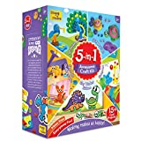 Imagimake 5-in-1 Awesome Craft Kit - Creative Toy & DIY Set for Kids - 5 Years & Above, Multicolour