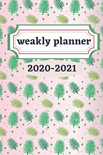 weakly planner 2020-2021: Weakly Calendar Planner Goals And To Do List