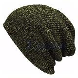 Gorro Beanie Sombrero Hat Gorro De Invierno para Mujer, Hombre, Suave Y Cálido, Gorros, Gorro De Punto Informal, Gorro Unisex De Color Mixto, Gorro con Puños Verde