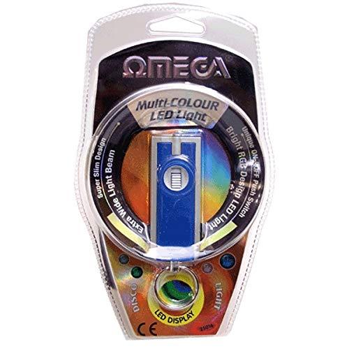 OMEGA RGB-16 - Llavero Linterna LED Multi-Color (6x2,5cm)