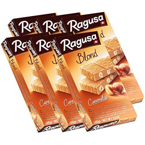 Ragusa Blond Caramélisé weisse Schokolade mit Haselnüssen 100g (6er Pack)