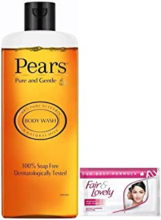 Pears Pure and Gentle Shower Gel, 250 ml With Free Fair & Lovely Multi Vitamin Cream, 4.5g