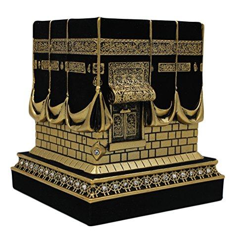 Исламски украс на маса, реплика на Кааба, изложба, злато / црно - 1960-ти
