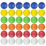 Dsmile Colorful Foam Golf Practice Balls 36 Pack Light Soft Elastic Training Multifunction Sport Balls