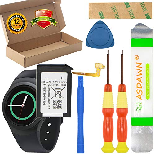 EB-BR730ABE for Samsung Galaxy Gear S2 Battery Replacement, for Gear S2 SM-R730 / Gear S2 Classic SM-R735 / Gear Sport SM-R600 with Repair Tools + Installation Instruction