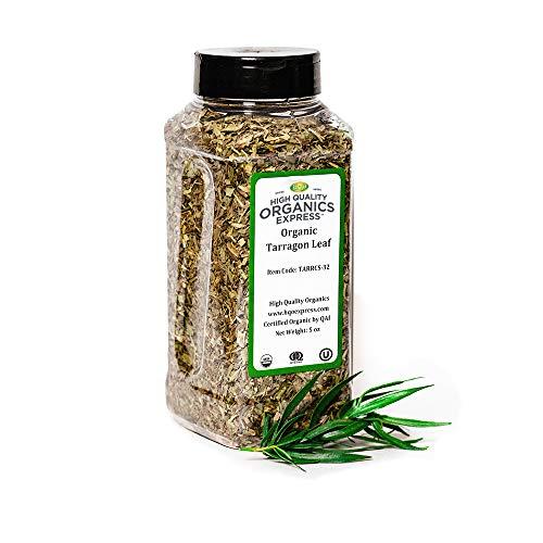 HQOExpress   Organic Tarragon Leaf   5 oz. Chef Jar