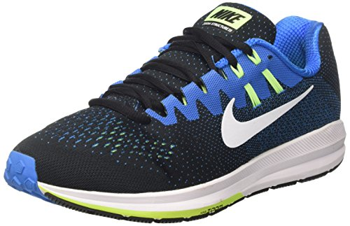 Nike Mens Air Zoom Structure 20 Black/White/Photo Blue Running Shoe 7.5 Men US