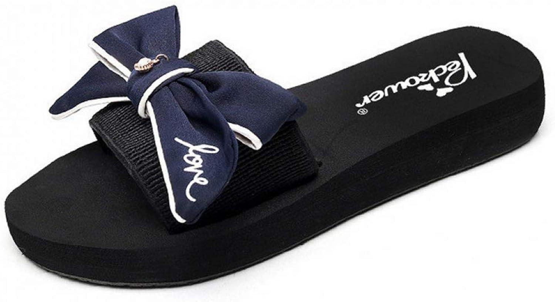 MEIZOKEN Women Slippers Fashion Big Bowknot Outside Beach Flip Flops shoes Flip Flops Casual Slides Sandals