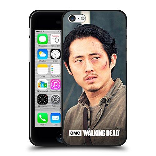 Head Case Designs Oficial AMC The Walking Dead Mirando hacia Los Lados Glenn Rhee Funda de Gel Negro Compatible con Apple iPhone 5 / iPhone 5s / iPhone SE 2016