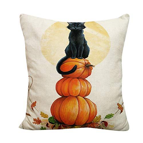jieGREAT  Räumungsverkauf ,Halloween Kürbis werfen Kissenbezug Kissenbezüge dekorative Sofa...