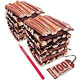 ValueBull Bully Sticks for Small Dogs, Thin 4-5 Inch, 100 Count - All Natural Dog Treats, 100% Beef Pizzles, Single Ingredient Rawhide Alternative